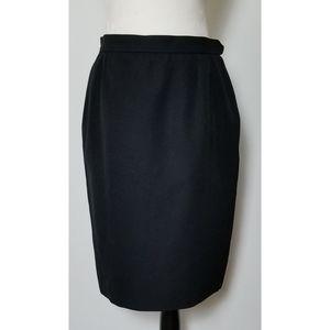 Saint Laurent Black Pencil Skirt Size 10